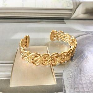 Monet Vintage Gold Bangle Bracelet